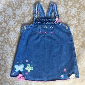 Other - Happy Spring Butterflies! Overall Denim dress